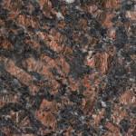 Karkearakeinen ja suuntautumaton graniitti. Yleisvaikutelma on tumma, punertavan ruskea. Pallokuviot ja moniväriset pienet läiskät ovat yleisiä. Louhintapaikka Intia.