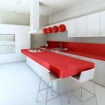 Modern kitchen interior at daylight.